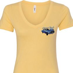American Muscle 1967 Mustang Pocket Print Ladies Ford Shirts