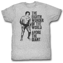 Andre The Giant Shirt 8th Wonder Grey T-Shirt