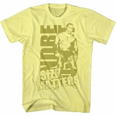 Andre The Giant Shirt Size Matters Gold T-Shirt