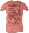 Andre The Giant Shirt Size Peach Wrestling Neon Peach Heather T-shirt