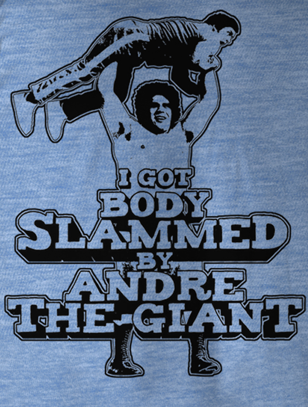 Andre The Giant Andre Blue Licensed Adult T-Shirt