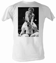 Andre The Giant T-Shirt – Cracked Wrestling White Adult Tee Shirt