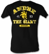 Andre The Giant T-Shirt - Hand Wrestling Black Adult Tee Shirt