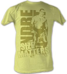 Andre The Giant T-Shirt Size Gold Wrestling Yellow Heather Tee Shirt