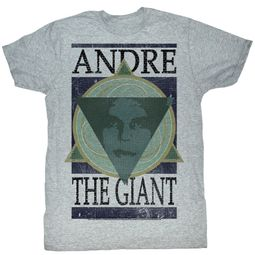 Andre The Giant T-Shirt Wrestling Andre Geometric Gray Adult Tee Shirt