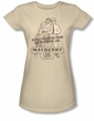 Andy Griffith Show Juniors Shirt Mayberry Jail Cream T-shirt Tee