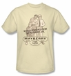 Andy Griffith Show Kids Shirt Mayberry Jail Youth Cream T-shirt Tee