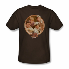 Andy Griffith Show Shirt Boys Club Brown Adult Tee T-Shirt
