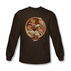 Andy Griffith Show Shirt Boys Club Brown Long Sleeve Tee T-Shirt
