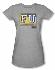 Animal House Juniors T-shirt Faber University Athletic Heather Tee