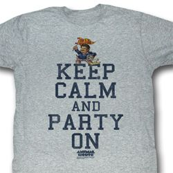 Animal House Shirt Party On Adult Grey Heather Tee T-Shirt