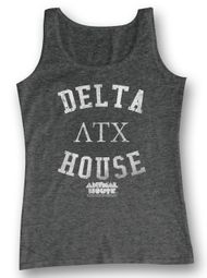 Animal House Shirt Tank Top Delta House Charcoal Tanktop