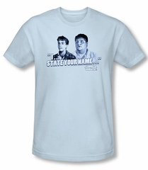 Animal House Slim Fit T-shirt Movie Pledge Adult Light Blue Tee Shirt