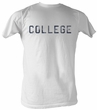 Animal House T-Shirt – Distress College Adult White Tee