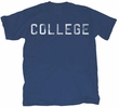 Animal House T-Shirt - Distressed College Adult Navy Blue