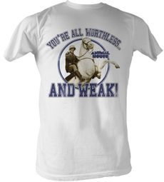Animal House T-Shirt – Worthless And Weak Adult White Tee