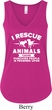 Animal Rescue Ladies Flowy V-neck Tanktop