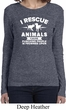 Animal Rescue Ladies Long Sleeve Shirt