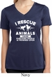 Animal Rescue Ladies Moisture Wicking V-neck Shirt