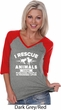 Animal Rescue Ladies Three Quarter Sleeve V-Neck Raglan Shirt