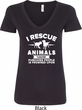 Animal Rescue Ladies V-Neck Shirt