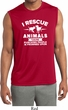 Animal Rescue Mens Sleeveless Moisture Wicking Shirt