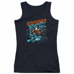 Aquaman Juniors Tank Top Bubbles Black Tanktop