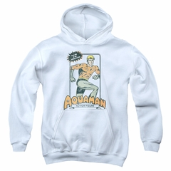 Aquaman Kids Hoodie Action Figure White Youth Hoody