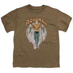 Aquaman Kids Shirt From The Depths Safari Green T-Shirt