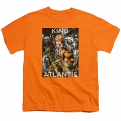Aquaman Kids Shirt King Of Atlantis Orange T-Shirt