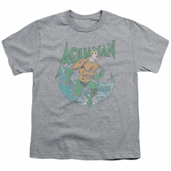Aquaman Kids Shirt Wave Athletic Heather T-Shirt
