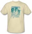 Aquaman Kids T-shirt - Catch A Wave DC Comics Cream Youth