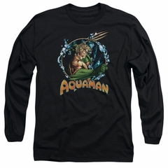 Aquaman Long Sleeve Shirt Ruler Of The Seas Black Tee T-Shirt