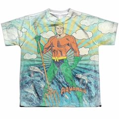 Aquaman Shirt Classic Pose Sublimation Youth Shirt