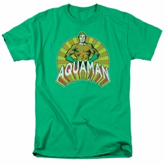 Aquaman Shirt Hands On Hips Kelly Green T-Shirt