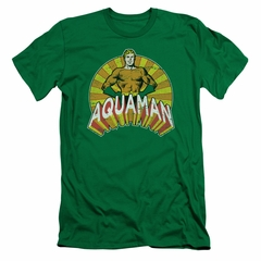 Aquaman Slim Fit Shirt Hands On Hips Kelly Green T-Shirt