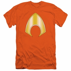 Aquaman Slim Fit Shirt Logo Orange T-Shirt