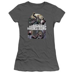 Archer & Armstrong Juniors Shirt Dropping In Charcoal T-Shirt