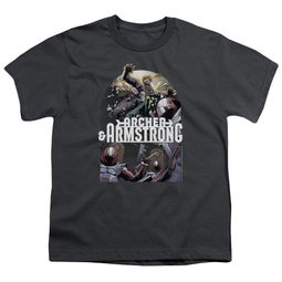 Archer & Armstrong Kids Shirt Dropping In Charcoal T-Shirt