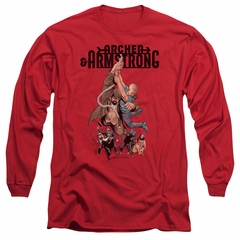 Archer & Armstrong Long Sleeve Shirt Hang On Red Tee T-Shirt