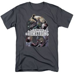 Archer & Armstrong Shirt Dropping In Charcoal T-Shirt