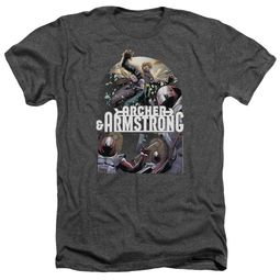 Archer & Armstrong Shirt Dropping In Heather Charcoal T-Shirt