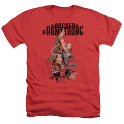 Archer & Armstrong Shirt Hang On Heather Red T-Shirt