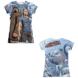 Archer & Armstrong Shirt Heroes Sublimation Juniors Shirt Front/Back Print