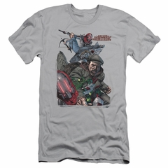 Archer & Armstrong Slim Fit Shirt Fight Back Silver T-Shirt
