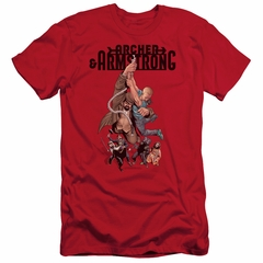 Archer & Armstrong Slim Fit Shirt Hang On Red T-Shirt