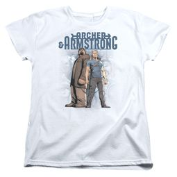 Archer & Armstrong Womens Shirt Stare Down White T-Shirt