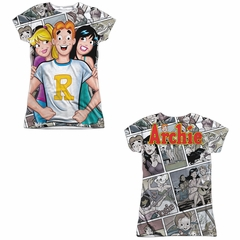 Archie Comic Shirt With The Girls Sublimation Juniors Shirt Front/Back Print