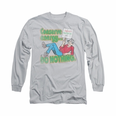 Archie Shirt Conserve Energy Long Sleeve Silver Tee T-Shirt