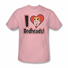 Archie Shirt I Love Redheads Pink T-Shirt